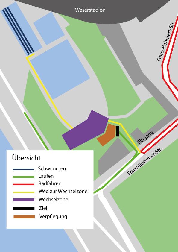 bersicht Stadionbad - Strecken