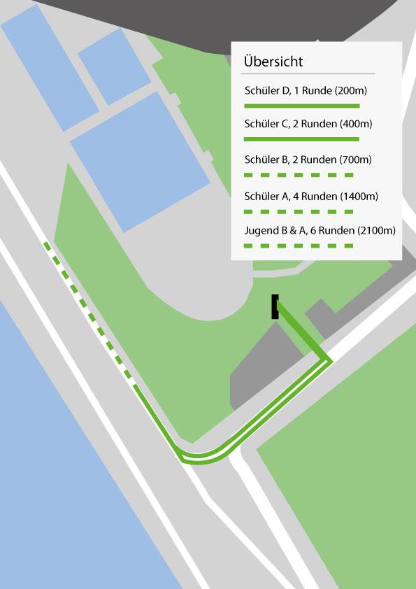 Laufen Stadionbad - Strecken